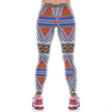 Women Geometry Pattern Fitness Yoga Leggings