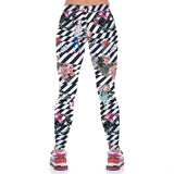 Fancy Flower Girl Print Digital Sport Leggings - waistshaper