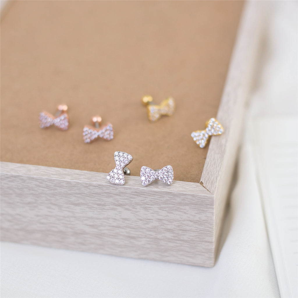 Glitter Ribbon Earrings / ER8030