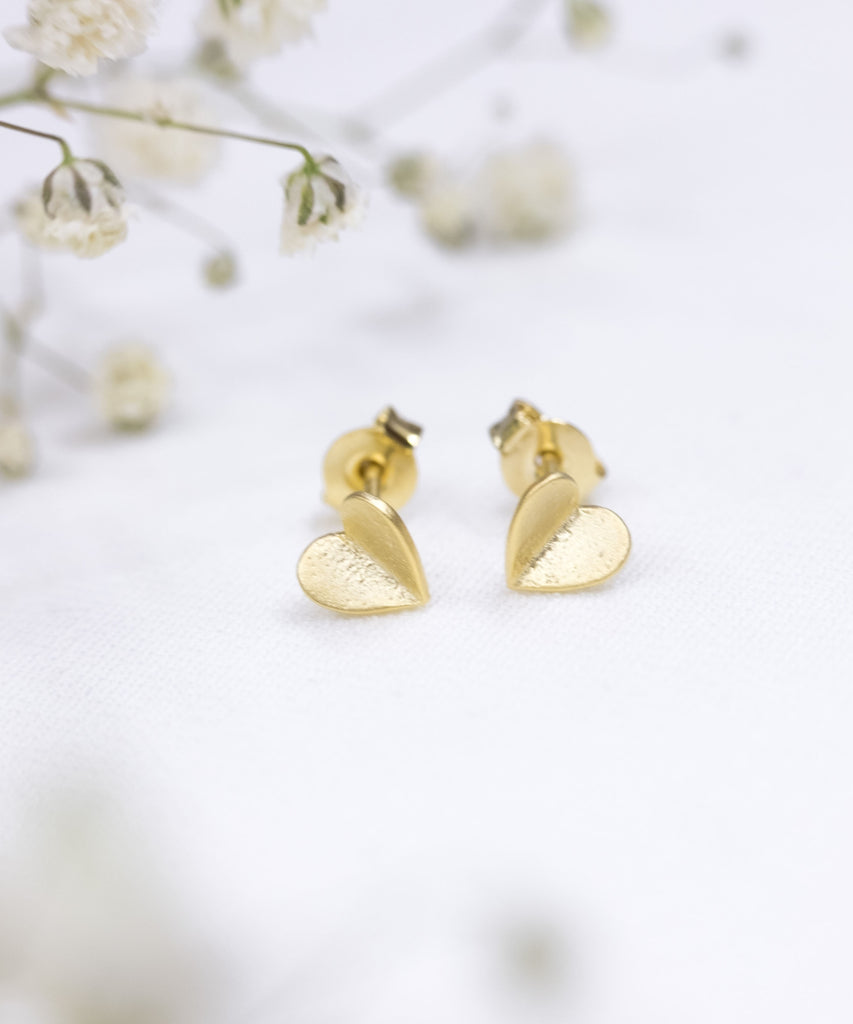 Folded heart, earrings / ER8229