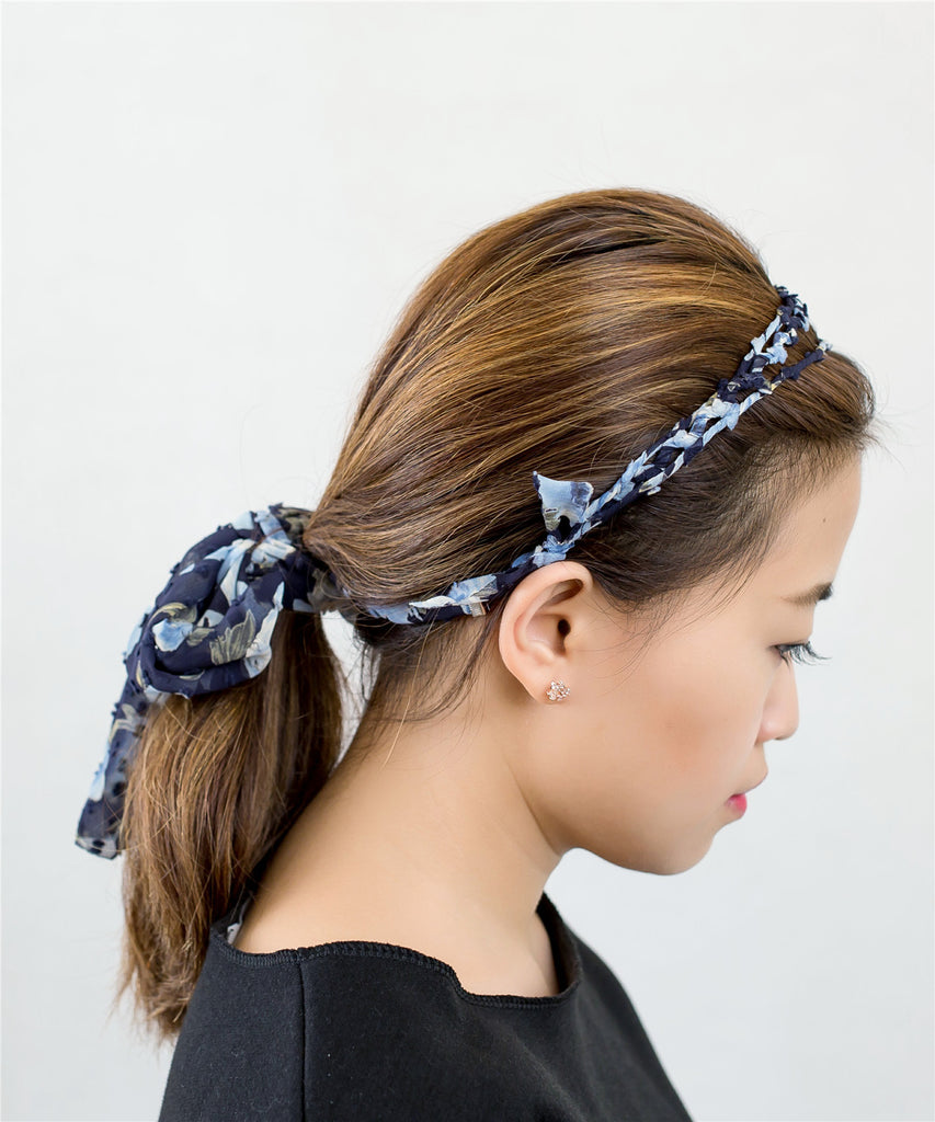 Floral Hairband with Ribbon (可分拆) / HA8012
