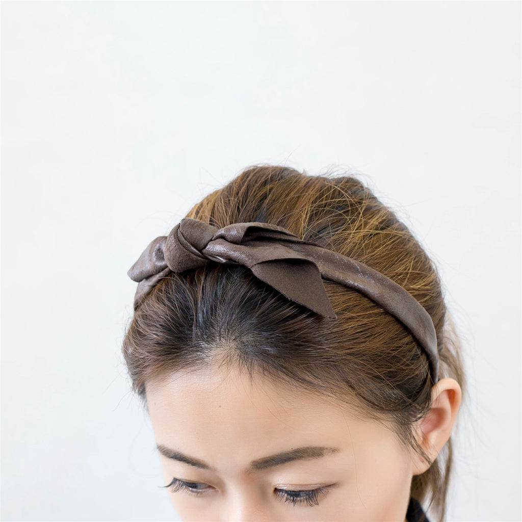 Leatherlike Side Ribbon Hairband / HA8023