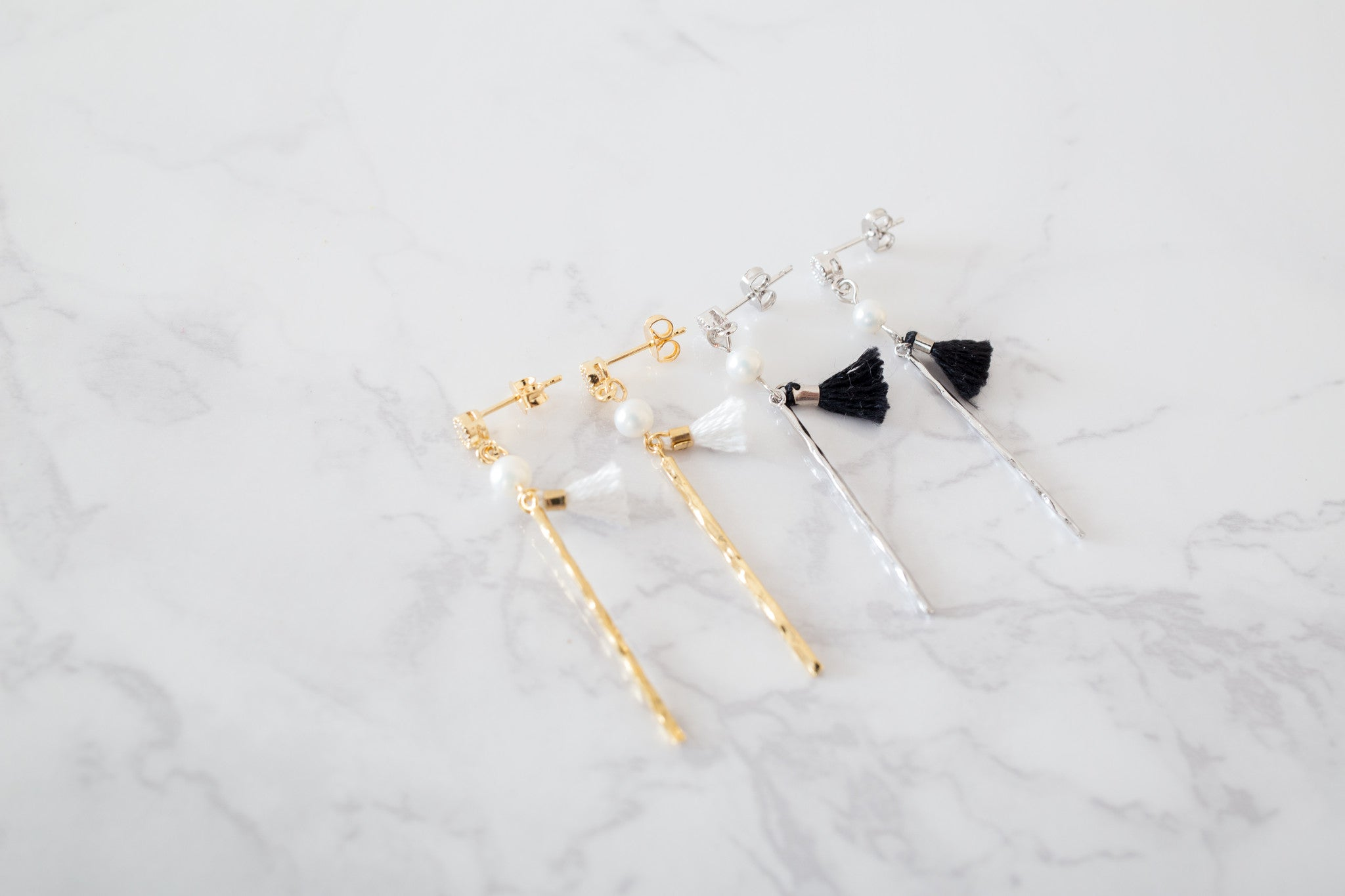 Long Bar & Tassels Earrings/ ER8156