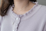 (925 silver made) luxury slide, necklace/ NL8140