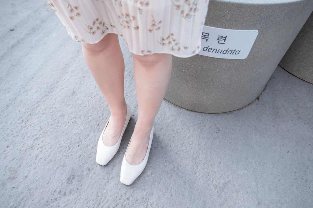 Little Square Heels 平頭真皮小方跟, Shoes/ SH8062
