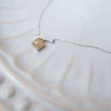 Natural Quartz, Silver Necklace/ NL8118