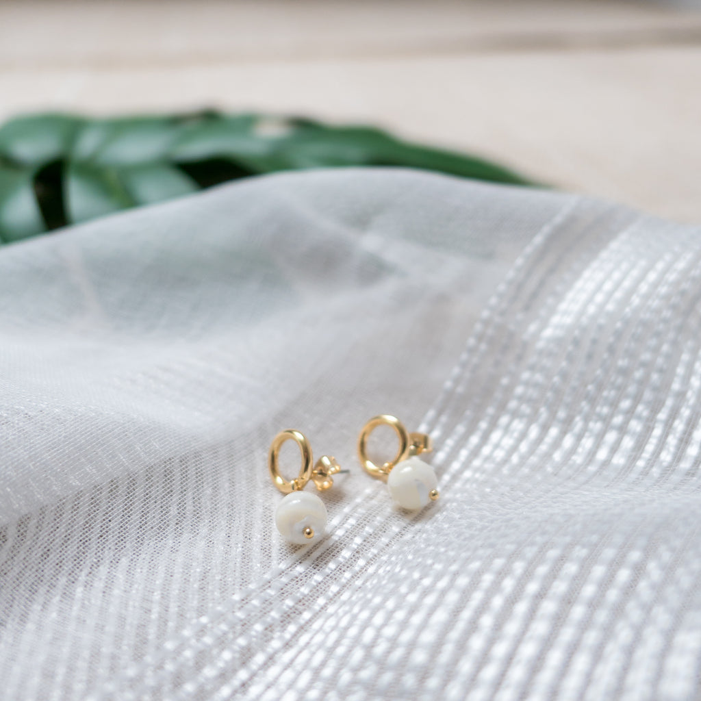 Gold Oval, Earrings/ ER8270