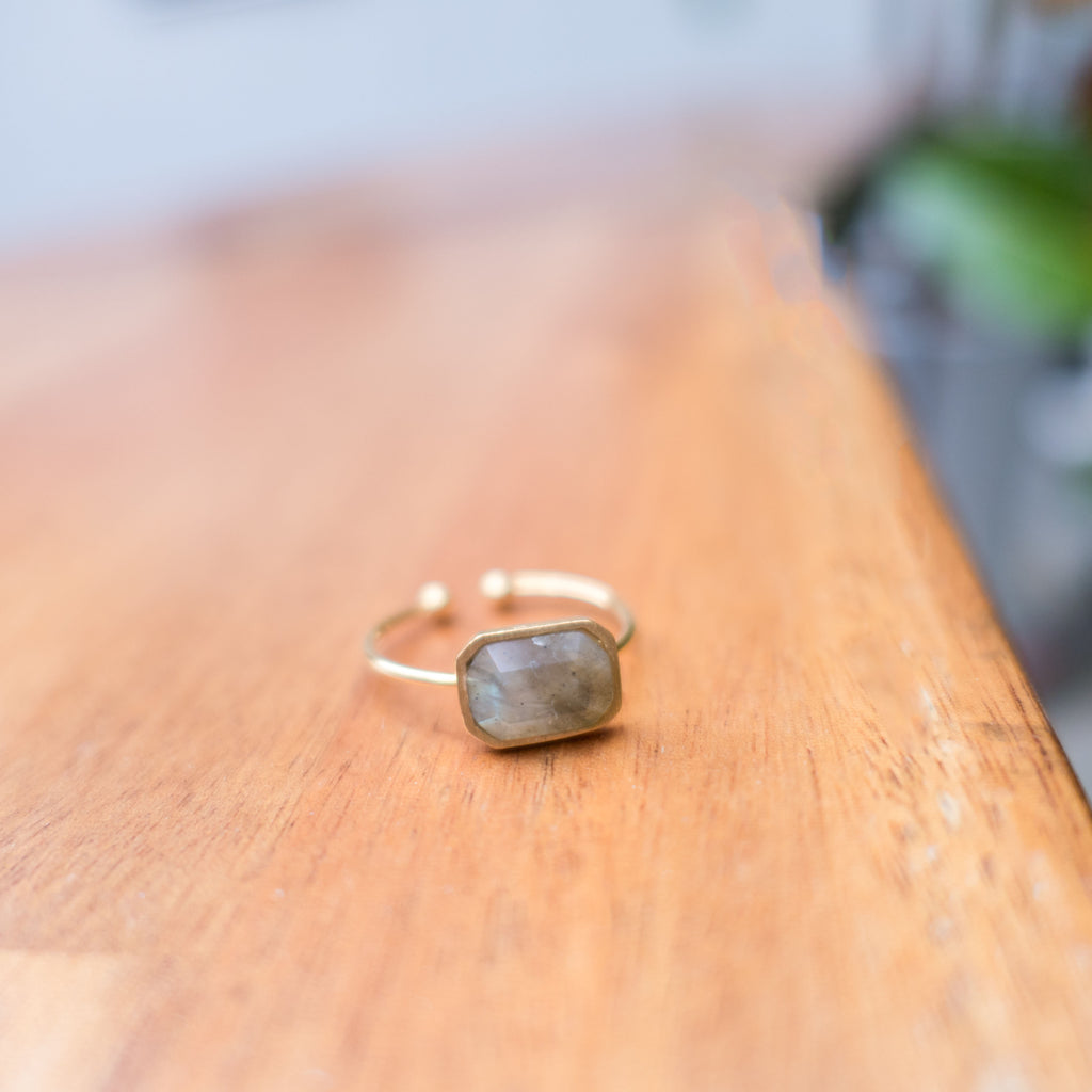 Rectangle Gemstone, Ring/ RN8053