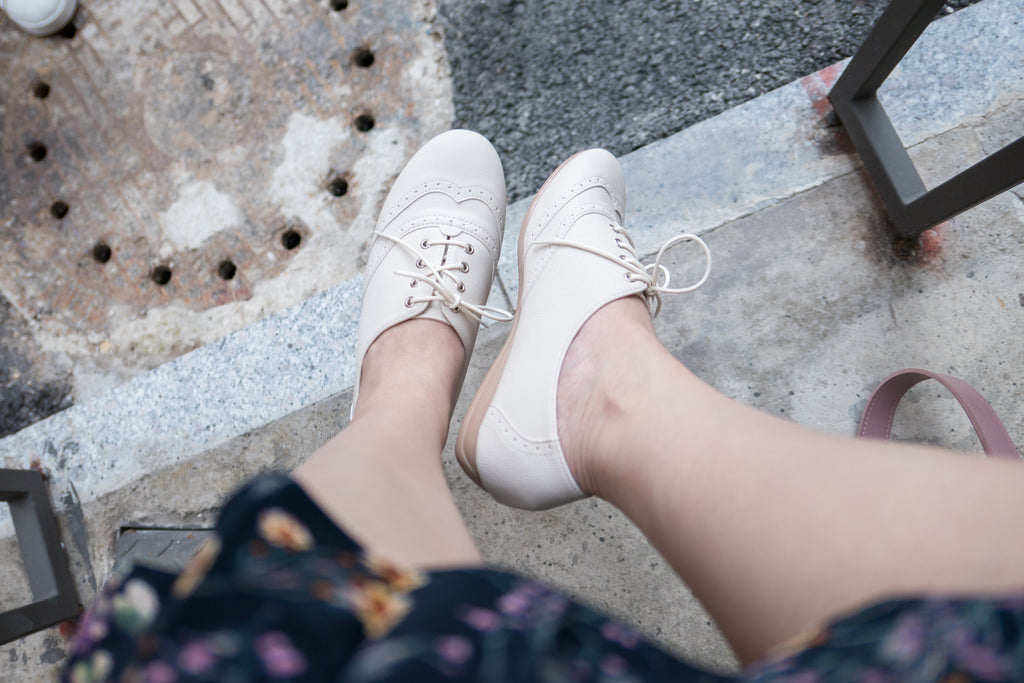 Comfy Ivory Brogue, Shoes/ SH8068