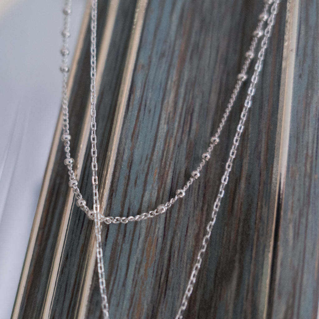 S925 double loop, Necklace/ NL8135