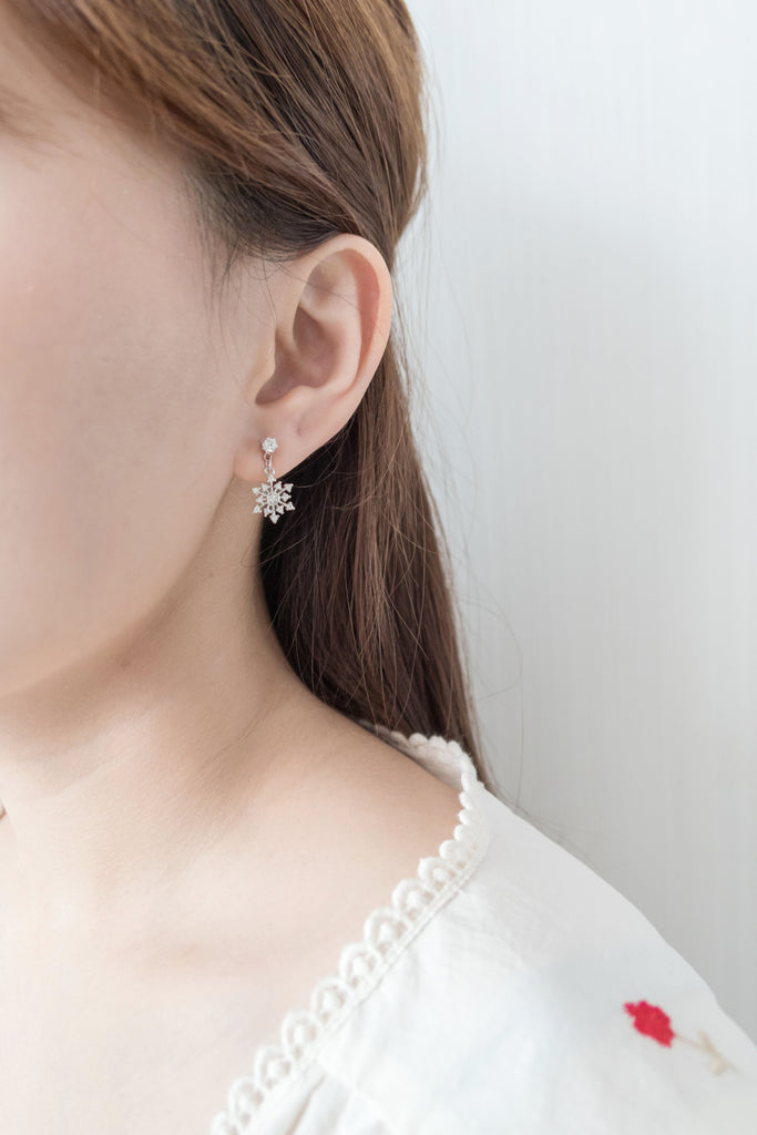 Falling Snow, Earrings/ ER8282