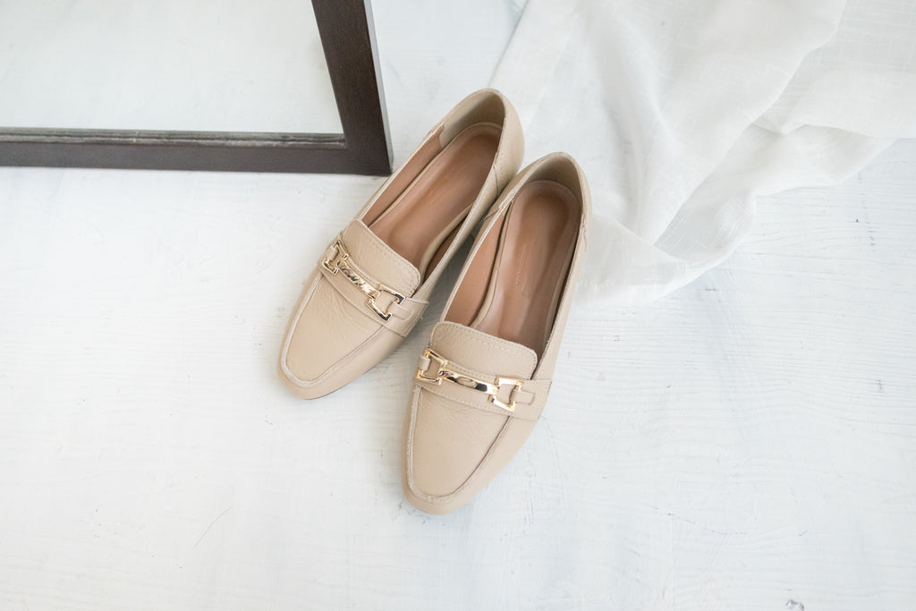 Real Leather, 金釦 Loafer/ SH8087