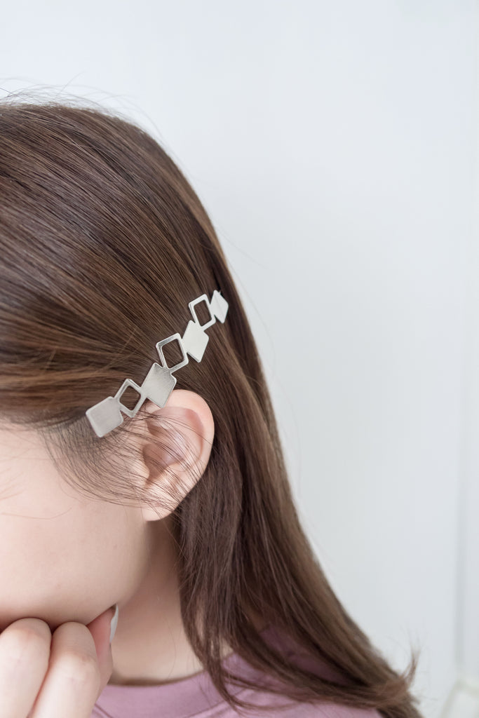 Metal Geometric, Flat Clip/ HA8093