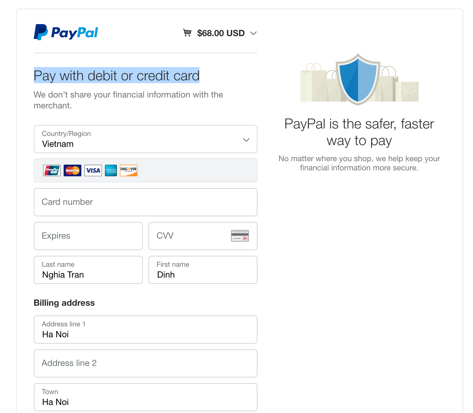 Payment with mastercard in leotheme.com