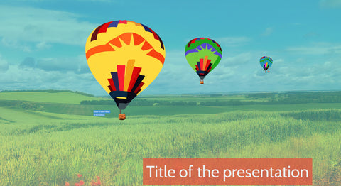 Balloons on the countryside Prezi presentation template