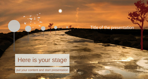 African Savanna Prezi presentation template