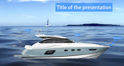 Boat on the sea Prezi presentation template