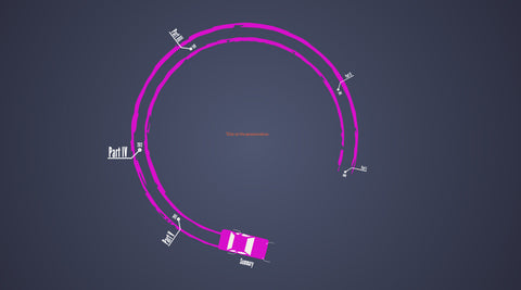 Car drifting, abstract timeline prezi template