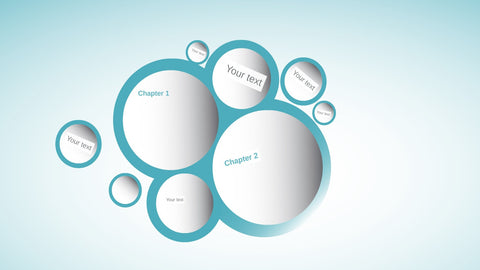 3D Prezi template with circles