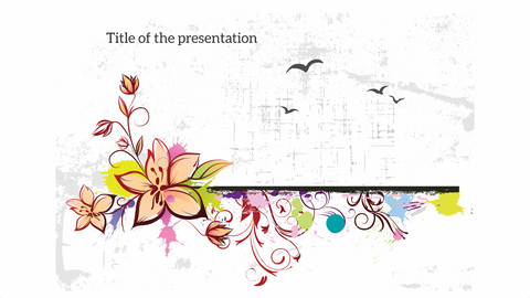 Flowers abstract template