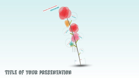 Flowers background prezi template