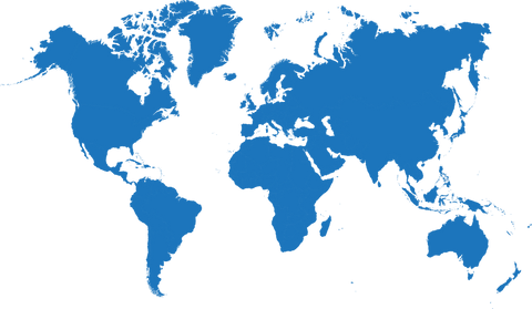 Map of the world blue SWF visual