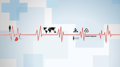 Medical health cardiogram Prezi template