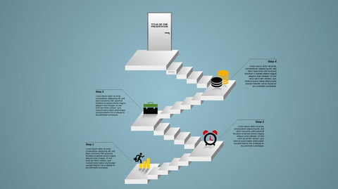 Stairway to success Prezi template
