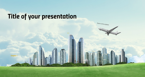 Modern city Prezi presentation template