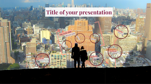 City from the top view Prezi template