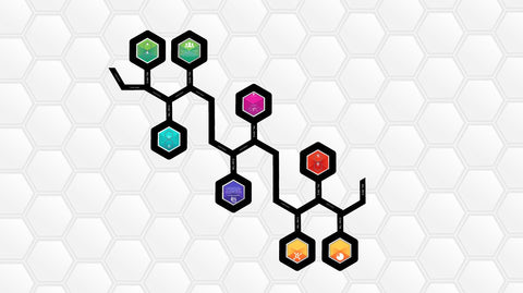 Hexagonal business timeline and infographic