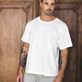 BOX TEE | white slub