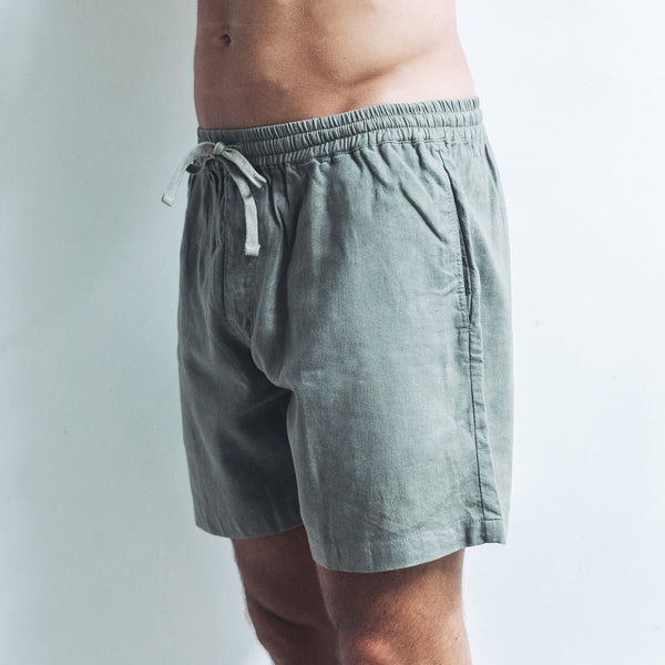 LINEN SHORTS | light khaki