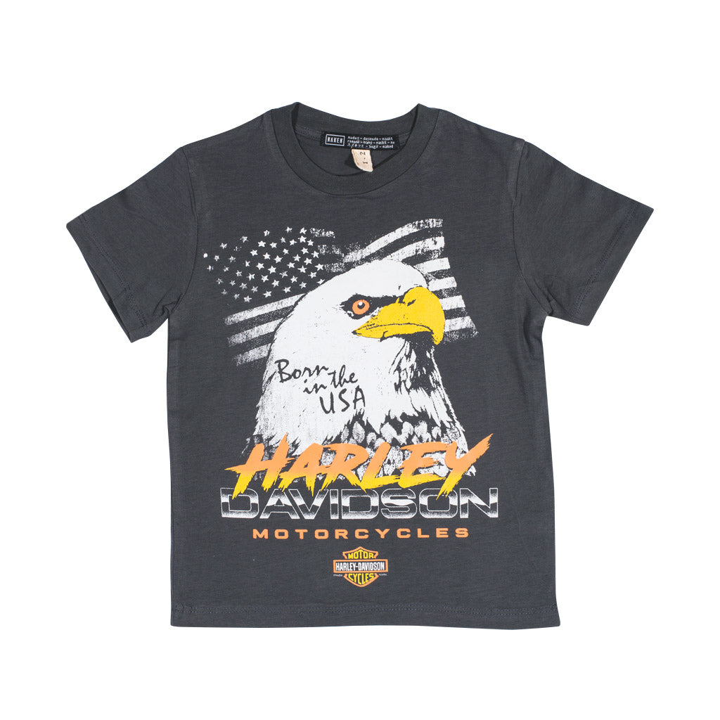 LITTLE HARLEY TEE | dark grey