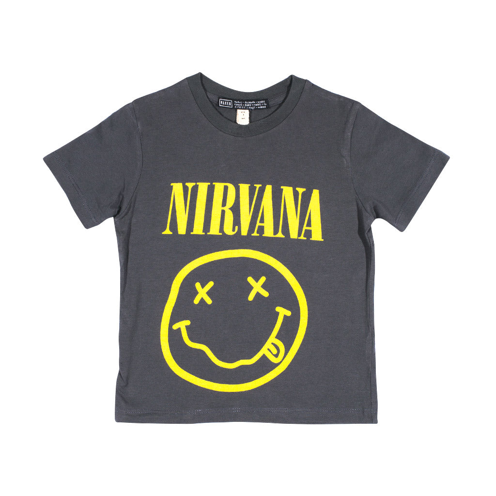 LITTLE NIRVANA TEE | dark grey