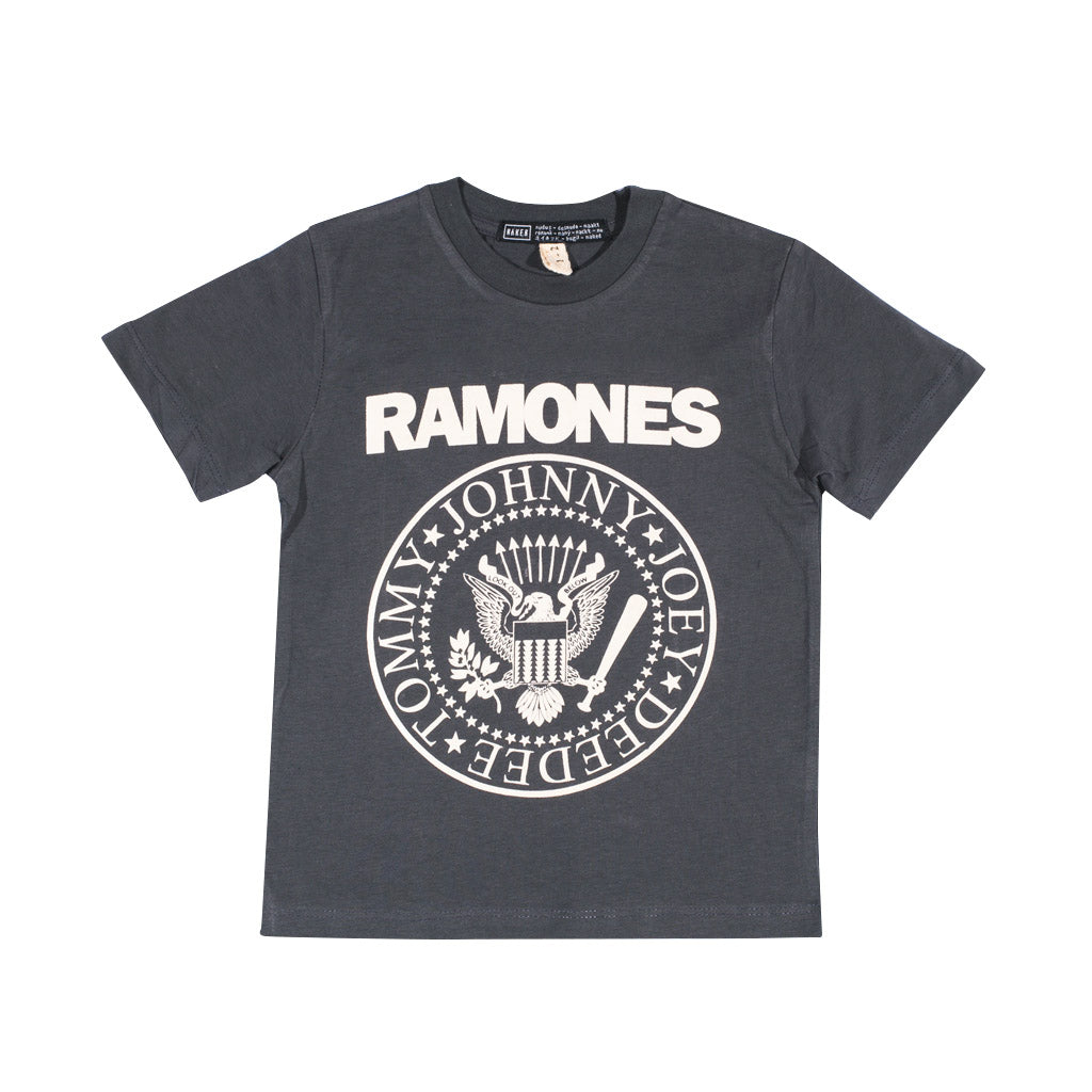 LITTLE RAMONES TEE | dark grey