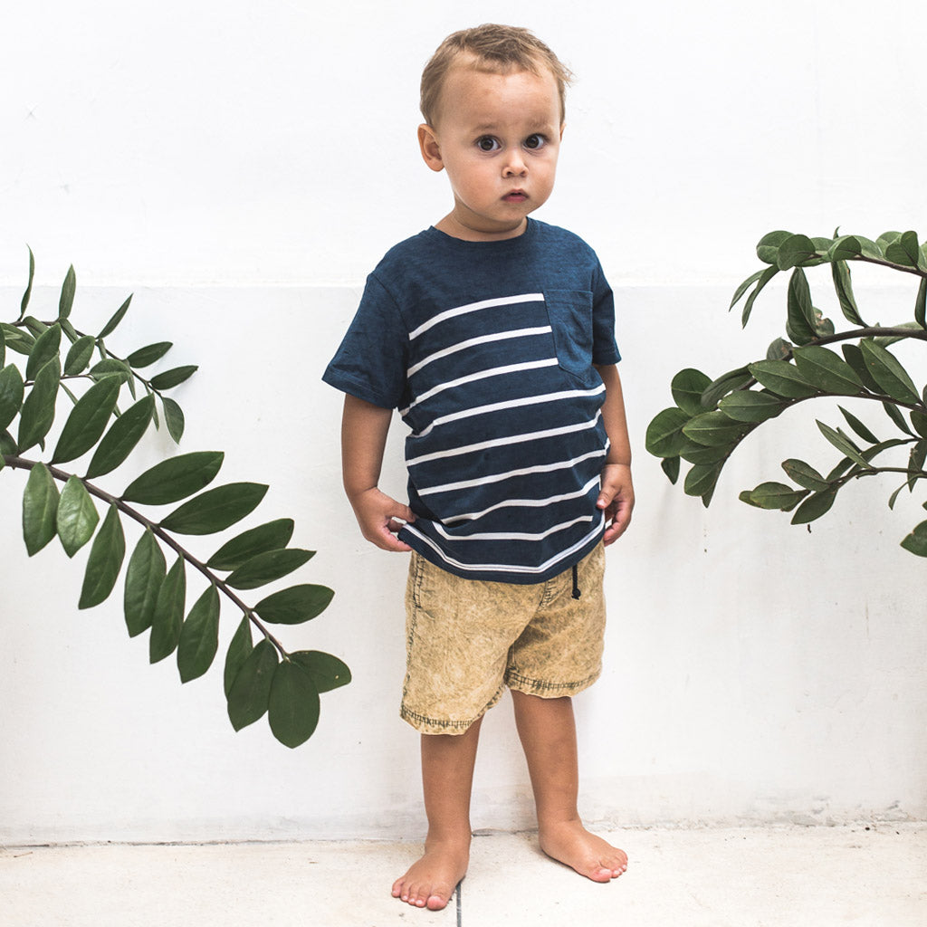 LITTLE KAPTEN TEE | navy