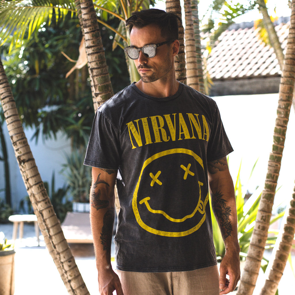 NIRVANA TEE | black wash