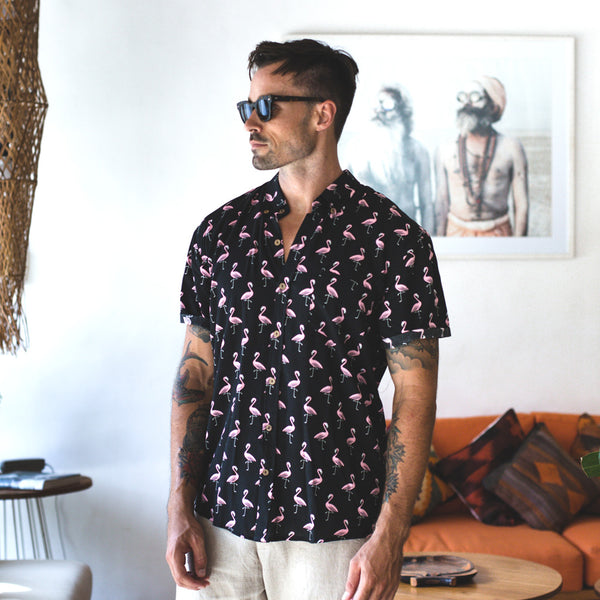 VACAY SHIRT | flamingo black