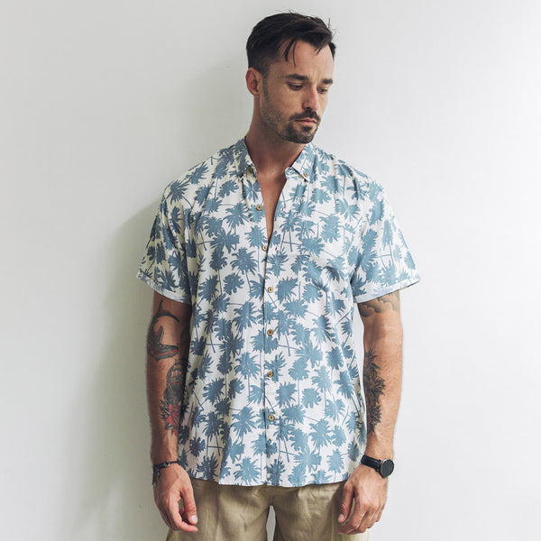 VACAY SHIRT | mini palm beige