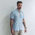VACAY SHIRT | mini palm blue