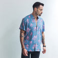 VACAY SHIRT | navy pink palm