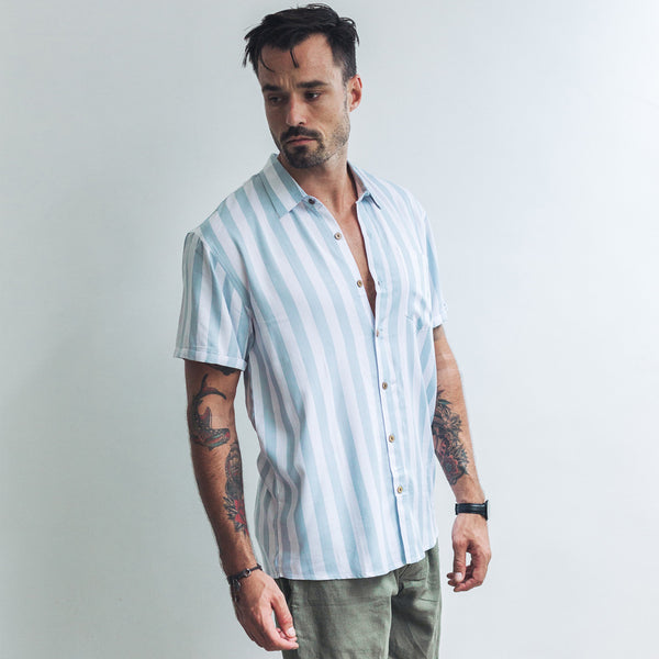 CASUAL SHIRT | light blue stripe