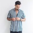 CASUAL SHIRT | navy stripes