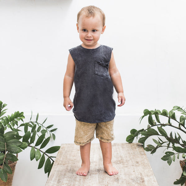 LITTLE RIPPER MUSCLE | black wash