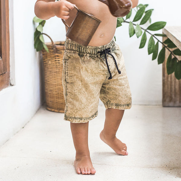 LITTLE SURFER | khaki wash