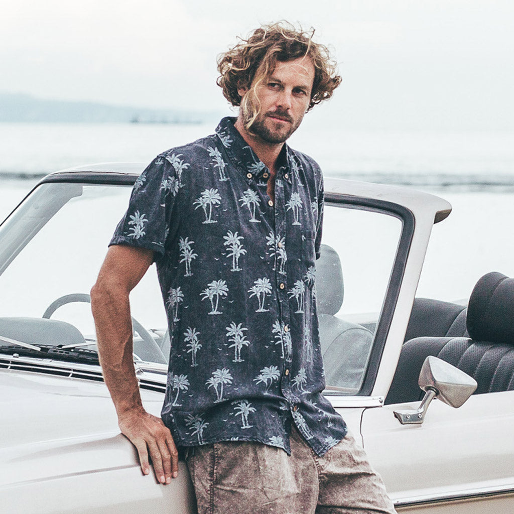 VACAY SHIRT | island vibes black wash