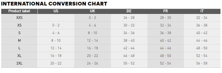25dc0e3ed Sizes on the product range from XXS-XXL we have used this chart to  determine UK standard sizes.