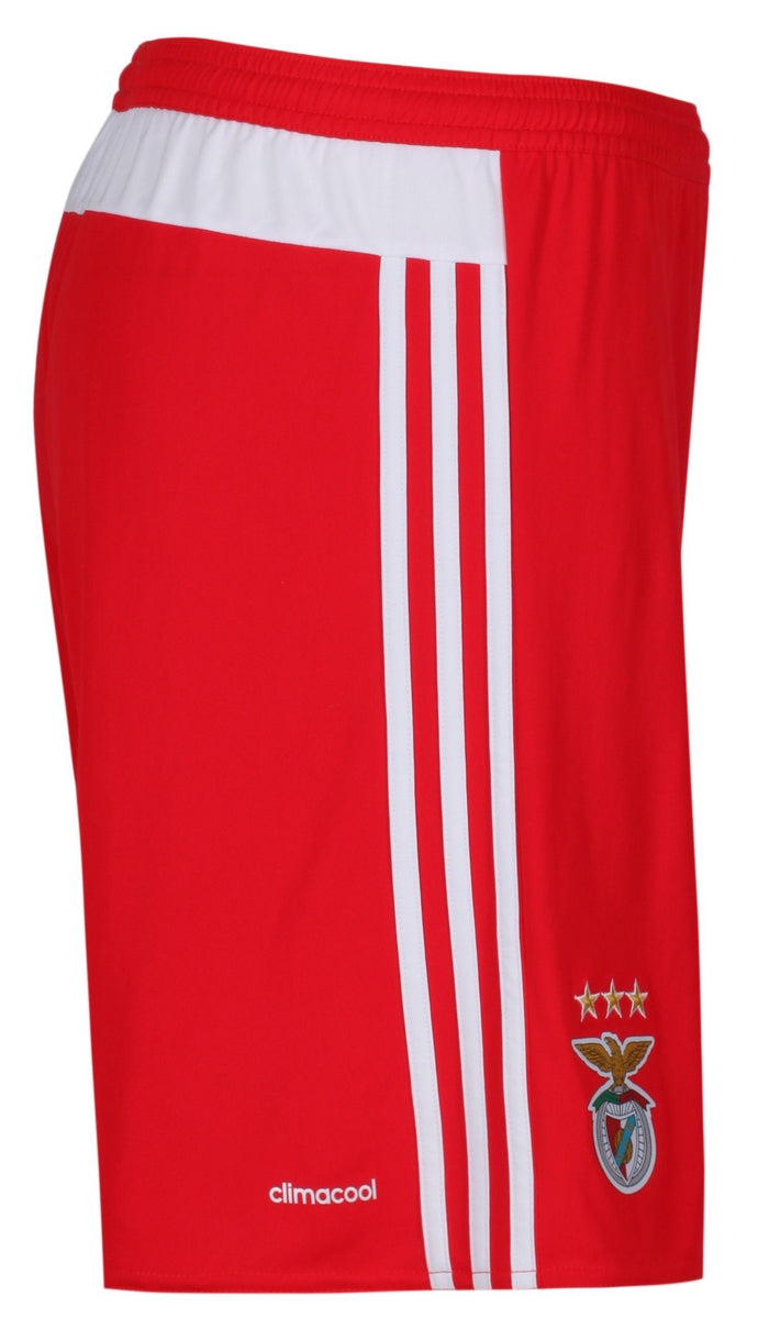check out 7bae0 bf375 ... adidas Mens Benfica Away Shorts Red - Side 2 ...