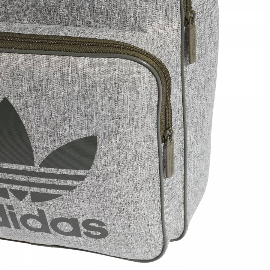 70d30ae4b482 ... adidas Originals Men s Classic Trefoil Backpack - Green Zip Compartment  ...